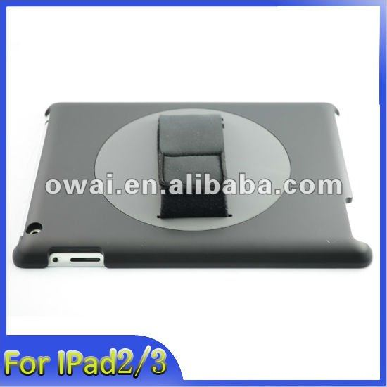 360 Rotating Handhold case Cover for ipad 2, for ipad 3 360 degrees rotation leather cases