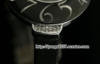 julius popular brand Japan movement black strap Shell surface big digital scale women girls watch;Factory Outlet;JA-504black