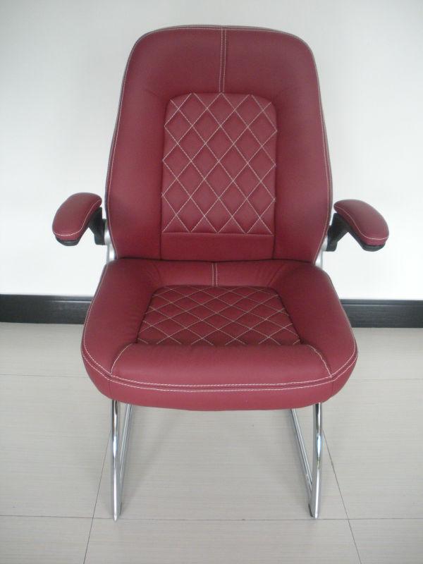Y-2862C Låg rygg läder kontorsstol / låg rygg stab stol