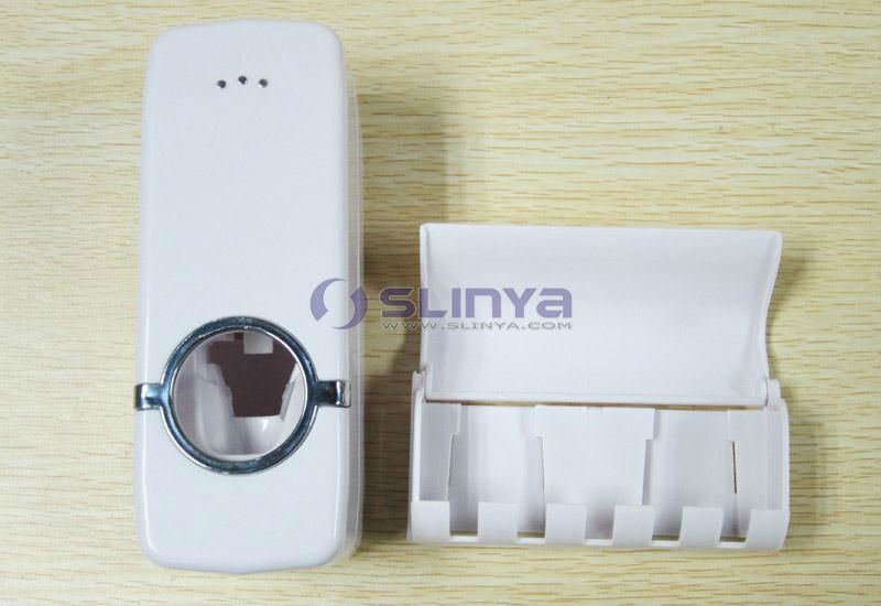Hold 5 Brush Automatic Toothpaste Dispenser & Toothbrush Holder