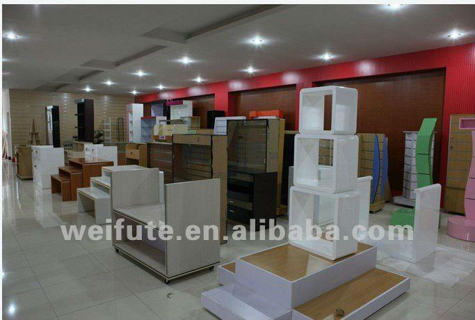 Cristal estante de exhibición para boutiqueDemás muebles de madera