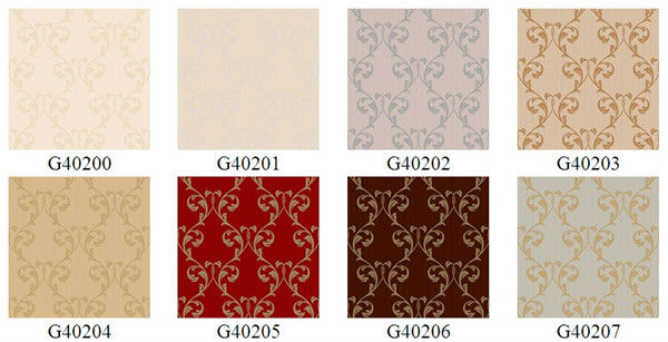 Modern damask design vinyl decorative wall coverings tv wall decorating