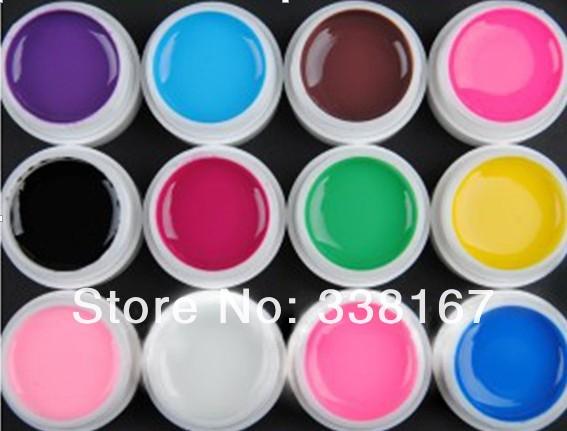 12 Color Solid Pure Gel Nail Polish UV Nail Gel Set.jpg