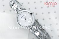Наручные часы DHL 50pcs/lot KIMIO ladies luxury citizen designer bracelet watch with Lucky clovers pattern dial K446L