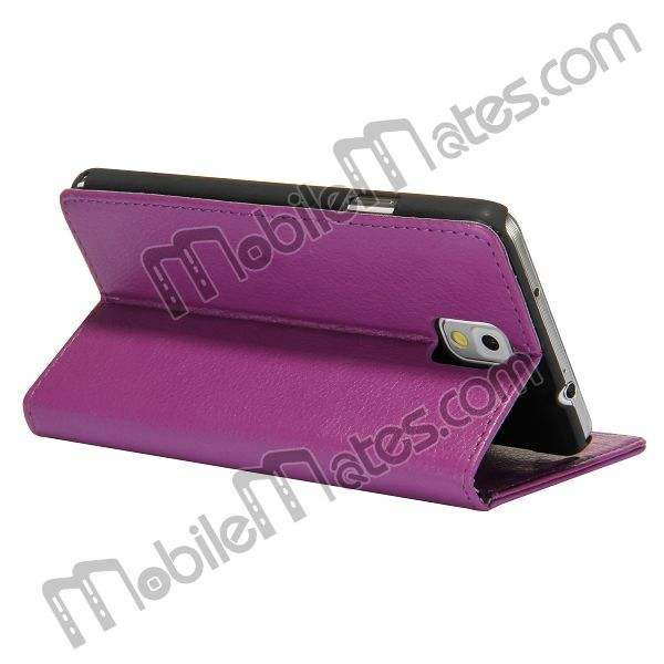 Lichee Pattern Magnetic Stand Leather Case For Samsung Galaxy Note 3 N9000 N9002 N9005