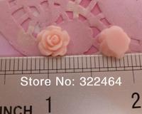 Товары для ручных поделок 200PC/Lot 10MM Flat Back Cabochon Resin Flower Pink Color For DIY Phone Decoration SKURDF016