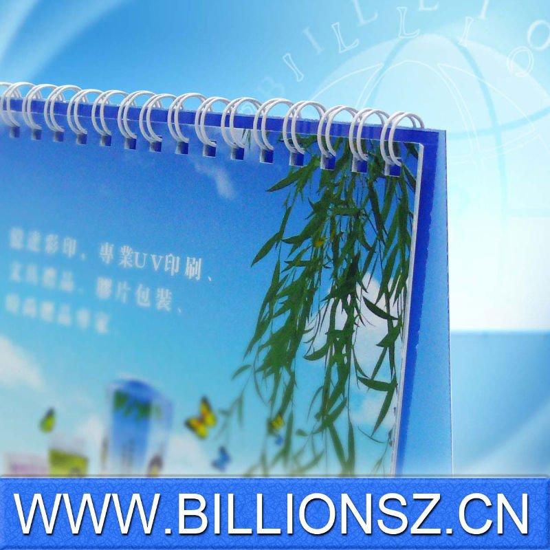 Специальный printined пластиковые настольный календарь 2012