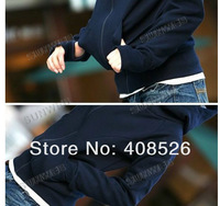 Женские толстовки и Кофты 2012 Korea Long Sleeve Short Cotton Blends Women Hoodie Coat Outerwear 3288