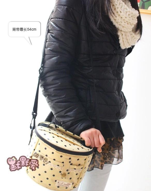 2014 нью-горошек кружево алюминиевой фольги обед сумки плеча изоляции закуска термосумка пикник сумка из неопрена водонепроницаемый