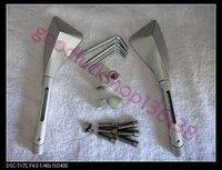 Боковые зеркала и Аксессуары для мотоцикла Universal Motorcycle CNC Side Gold Mirror Mirrors silvery M01
