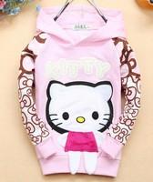 Кофта для девочки Fashion hoodies children's clothing cotton girl's hellow kitty Sweatshirts kid's hoodies girls clothing CT38 4pcs/lot