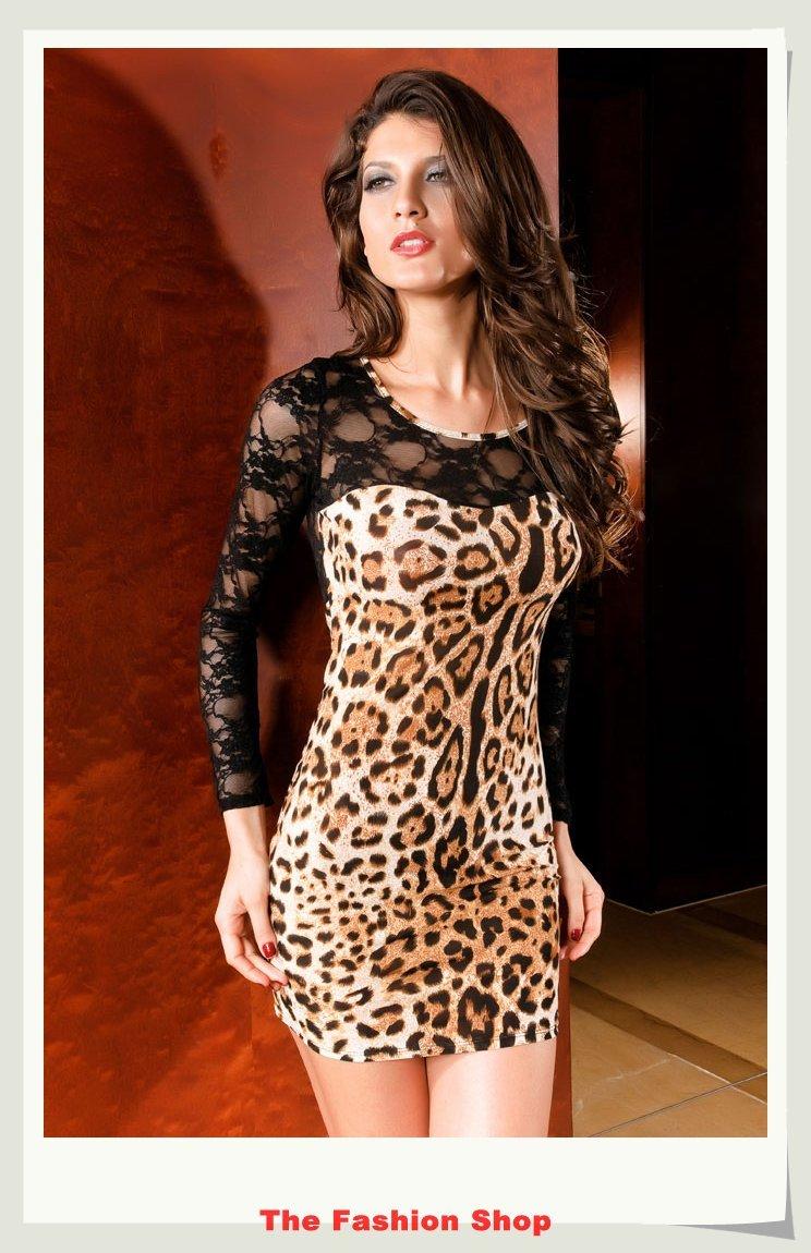 Платье под леопарда