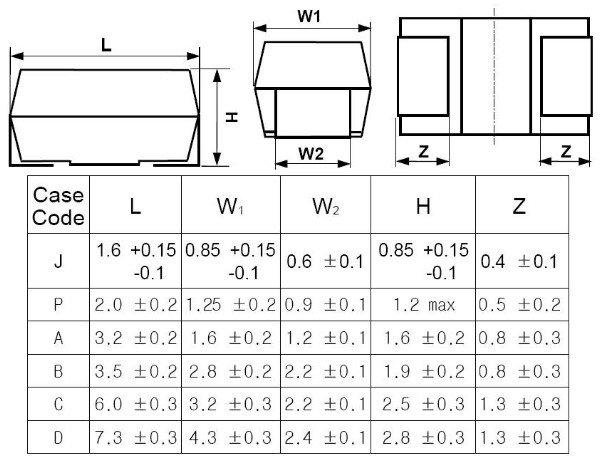 Tcsvs1a106maar Samsung Tantalum Smd Electrolytic