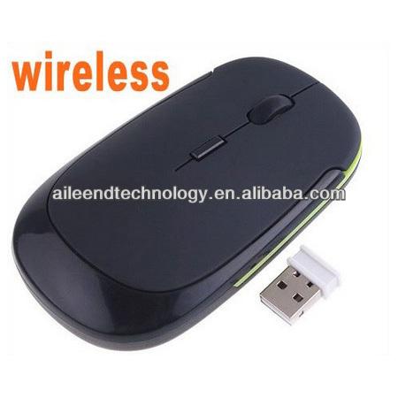 Ultra-Slim Mini USB 2.4G Wireless Optical Mouse wireless 1600 DPI Black color