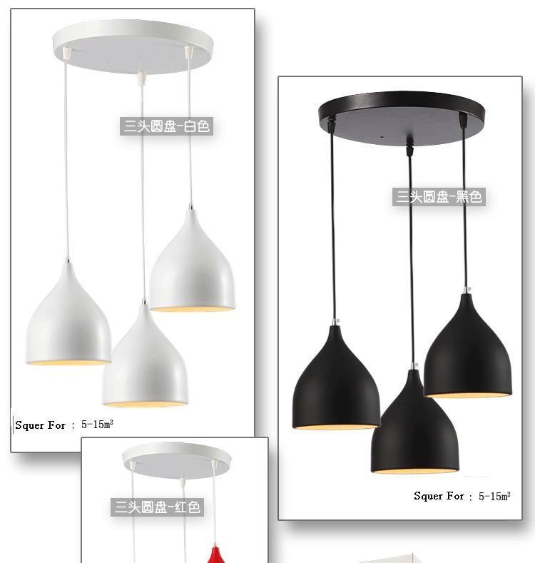 Светодиодное освещение Modern brief Single-head Iron Lamps Bar Dining Room Pendant Light 17*19CM 3 Colors For Choice