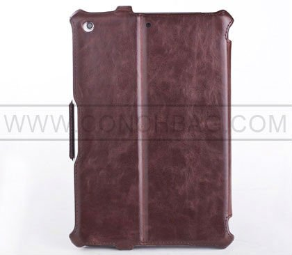 Crazy horse PU leather pressing case for new ipad mini
