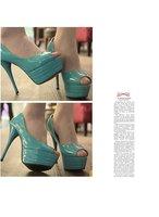 Туфли на высоком каблуке Sexy platform high heel shoes ladies dress shoes women pumps pu leather fish mouth KYZ0396-2NF