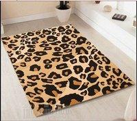 60/180 70*140 50*200cm Custom-made FREE SHIPPIN  leopard pattern handmade acrylic living room, coffee table bedroom carpet