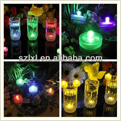 Round Orange Submersible LED FloraLytes / LED Water Vase Light