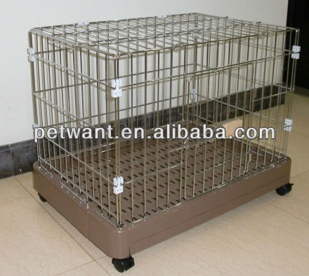 dog crate cover FC-2202P folding storage crate Petwant with optional wheels and food tray