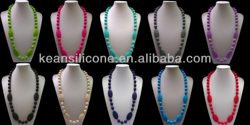 2 Colors Silicon Chew Pendant&New to the market
