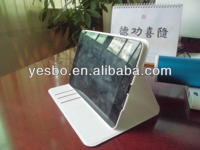 silk pattern 360 degrees rotating pu case for ipad mini