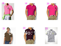 Мужская футболка Big Pony Brand New 100% Cotton Men's Short Sleeve Polo T-shirt Shirts &retail