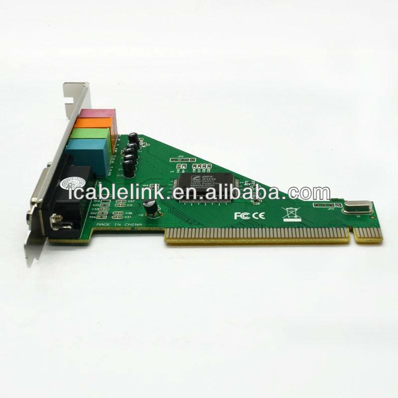 4 CH Channel 3D PC PCI Sound Audio Card W/Game MIDI Port