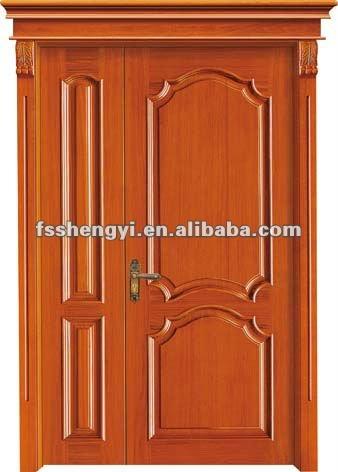 Una y medio exterior de la puerta de madera dise os for Disenos de puertas de madera para exterior