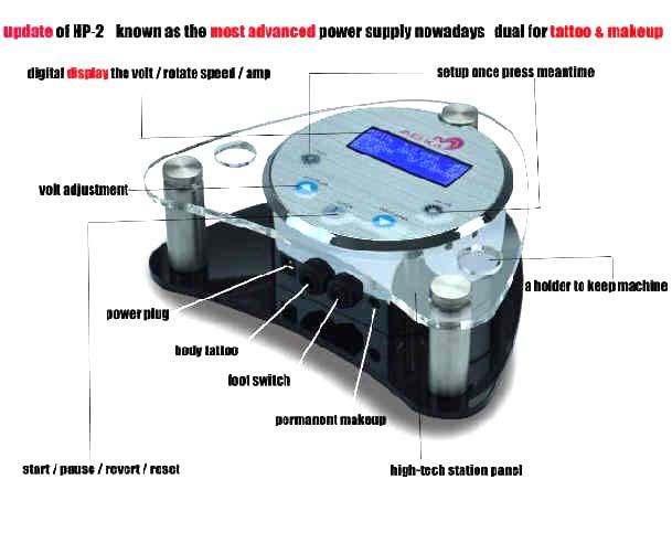 Клип-корды, Блоки питания для татуировочных машин High Quality Permanent Makeup Pen Mchine LCD Power Supply