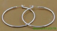 Серьги висячие Clip drop hoop stud earring 925 ,  fashion