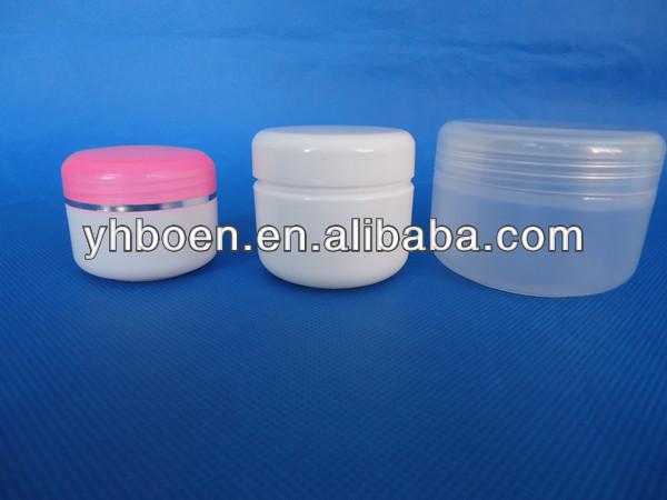 Food grade! Plastica vasetto di crema cosmetica, cosmetici viso crema vaso con coperchio, cosmetici 5ml contenitore 30ml 50ml 100ml( campioni gratuiti)
