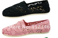 2012 Hot sale!free shipping new Latest openwork crochet shoes super comfortable shoes