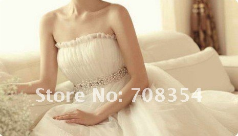 Special For Pregnant Women's Trailing Lovely Princess Wedding Dress/Gravida Pearl Bridal Gown