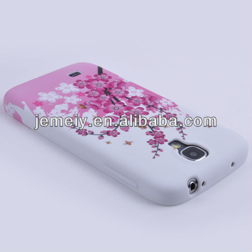 Vivid flower pattern printed TPU mobile phone case for Samsung Galaxy S4 i9500