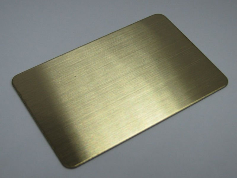 Red Bonze Brushed Finish Stainless Steel Sheet