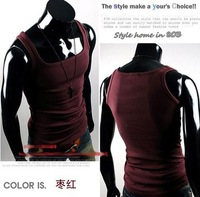 Мужская футболка 2012 Hot Sale Fashion Men Sleeveless Cotton T Shirt Tank Tops