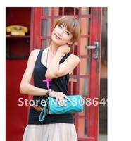 Сумка NEW PU LEATHER WOMEN'S FASHION LADY LOVE CUTE BLACK WAVE GRAIN SMALL BAG B005