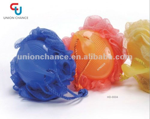 Flower Pattern Bath Ball Shower Ball