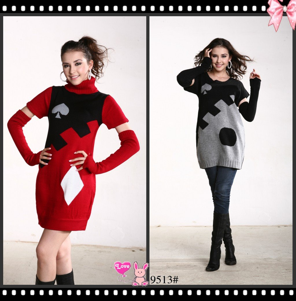 2013 fashion casual crochet women sweater dress