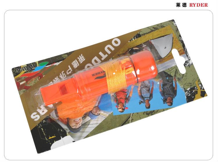 5 in 1 Orange Plastic Whistle