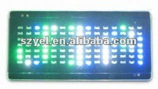 programmable led badge. led scrolling message t-shirts. electronic led label