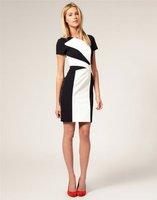 Платье для вечеринки 944] Women's Dress Blank and White Graphic Cocktail Party Evening Dresses UK SIZE 8-16