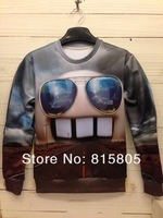 Потребительские товары Sale! New Fashion 2013 Women/Men Space Galaxy Sweatshirts Funny Panda 3d sweaters hoodies Top S/M/L/XL