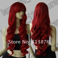 Парик Long Heat Resistant Big Spiral Curl Dark Red Cosplay Wig