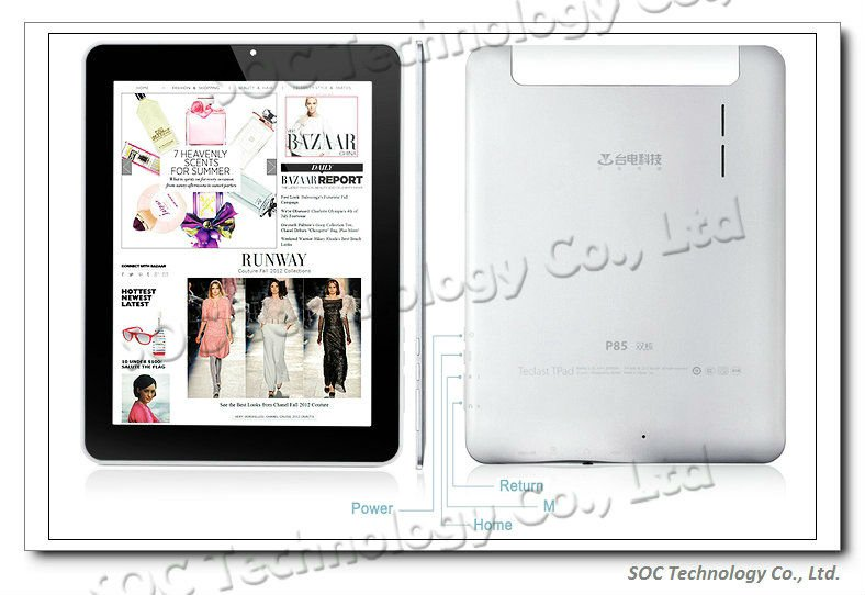 2012 HOT 8 inch dual core Teclast P85 RK3066 1.6GHz Android 4.0 16GB Tablet PC