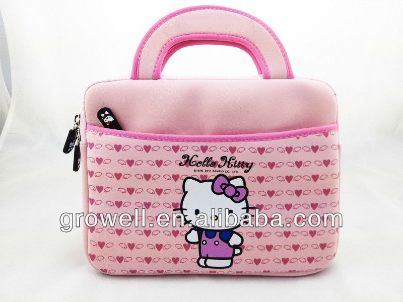 Neoprene hello kitty laptop bag for ipad
