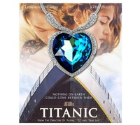 3.5cm*3.5cm TITANIC Heart of Ocean pendant Necklace Free shipping 18K Rhodium Plated Luxury Crystal Swarovski Elements XL0001