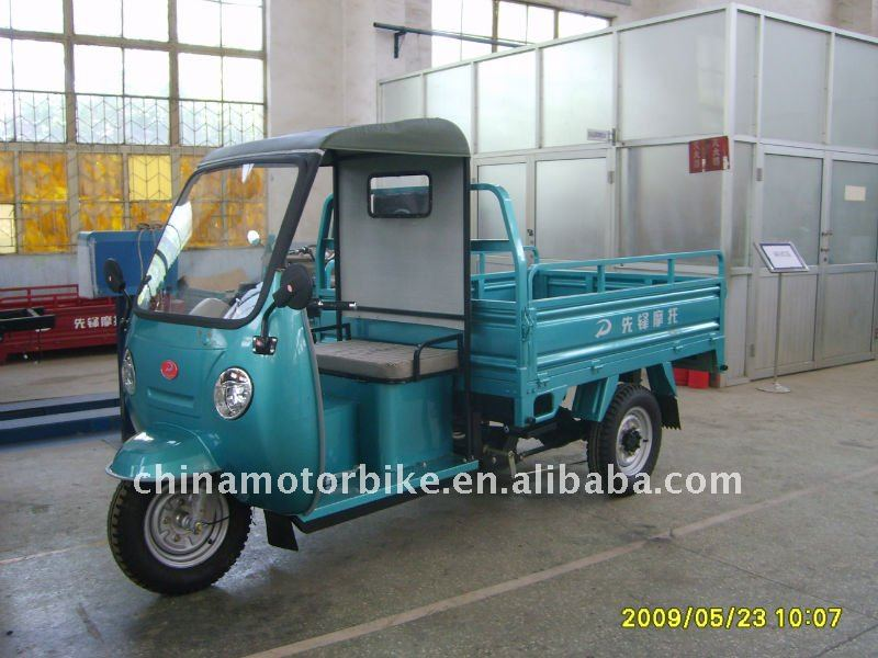 150CC gasoline tricycle for cargo with cabin