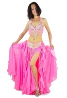 Free shipping / New High Quality Belly Dance Costume 2 pics set of Bra+Belt / Bra Size: 34B/C,36B/C,38B/C,40B/C,Color:Royal blue
